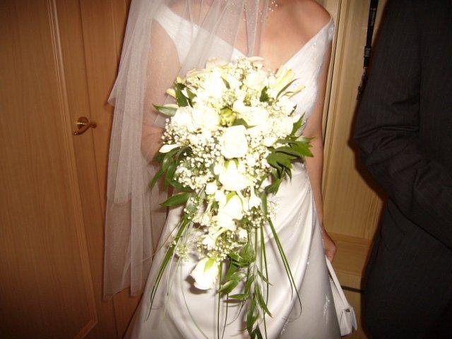 Detaily zo svadby - moja kytica, v skutocnosti je ovela mensia nez sa javi na fotkach