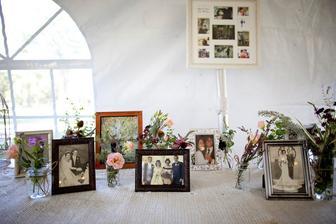 Rodina a fotografie babiček ze svatby