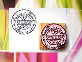 Svatební poštovní razítko... Omyvatelné razítko,  4,2 x 4,2 cm, 299,-