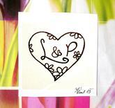 Svatební č.6 s květinkami, omyvatelné razítko, 3,6 x 3,1 cm, 155,-