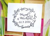 Svatební vintage 1... Omyvatelné razítko, 6,5 x 5,5 cm, 310,-