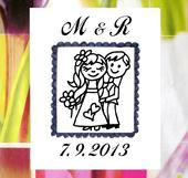 Svatební č. 21 poštovní známka. Omyv. razítko.,