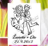 Svatební č. 25 taneční. Omyvatelné razítko. ,