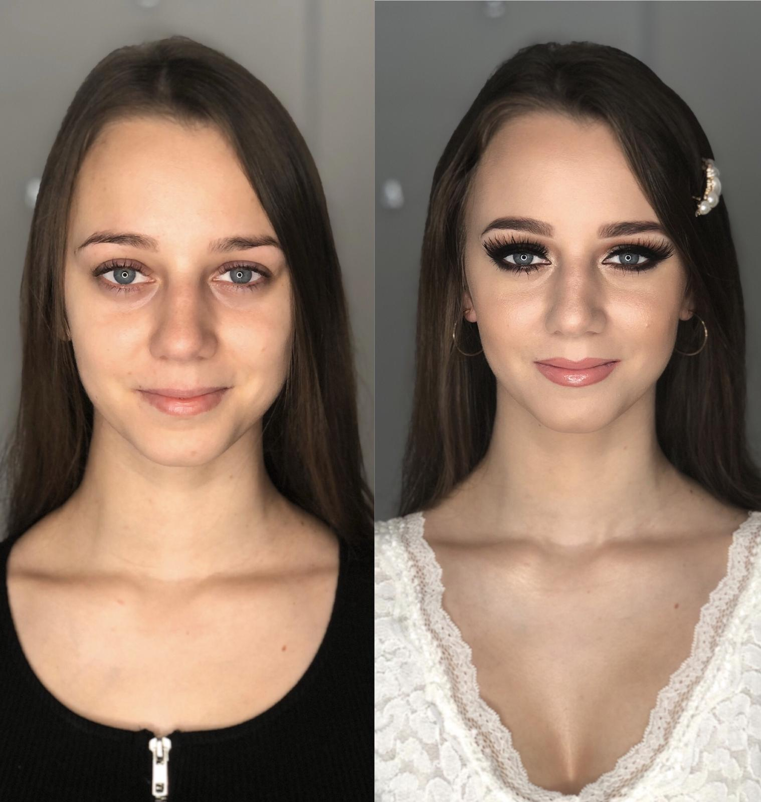 Moje premeny - Marcelka , pred a po inšpirácia pre tie ktoré majú rady výraznejšie líčenie :)