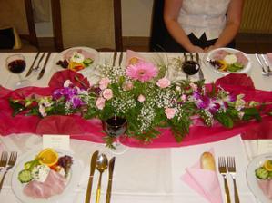 detail svatební tabule