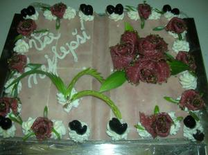 slaný svatební dort - opravdová mňamka