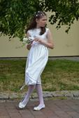 Bílé šaty pro drůžičku či sv. přijímání, 140