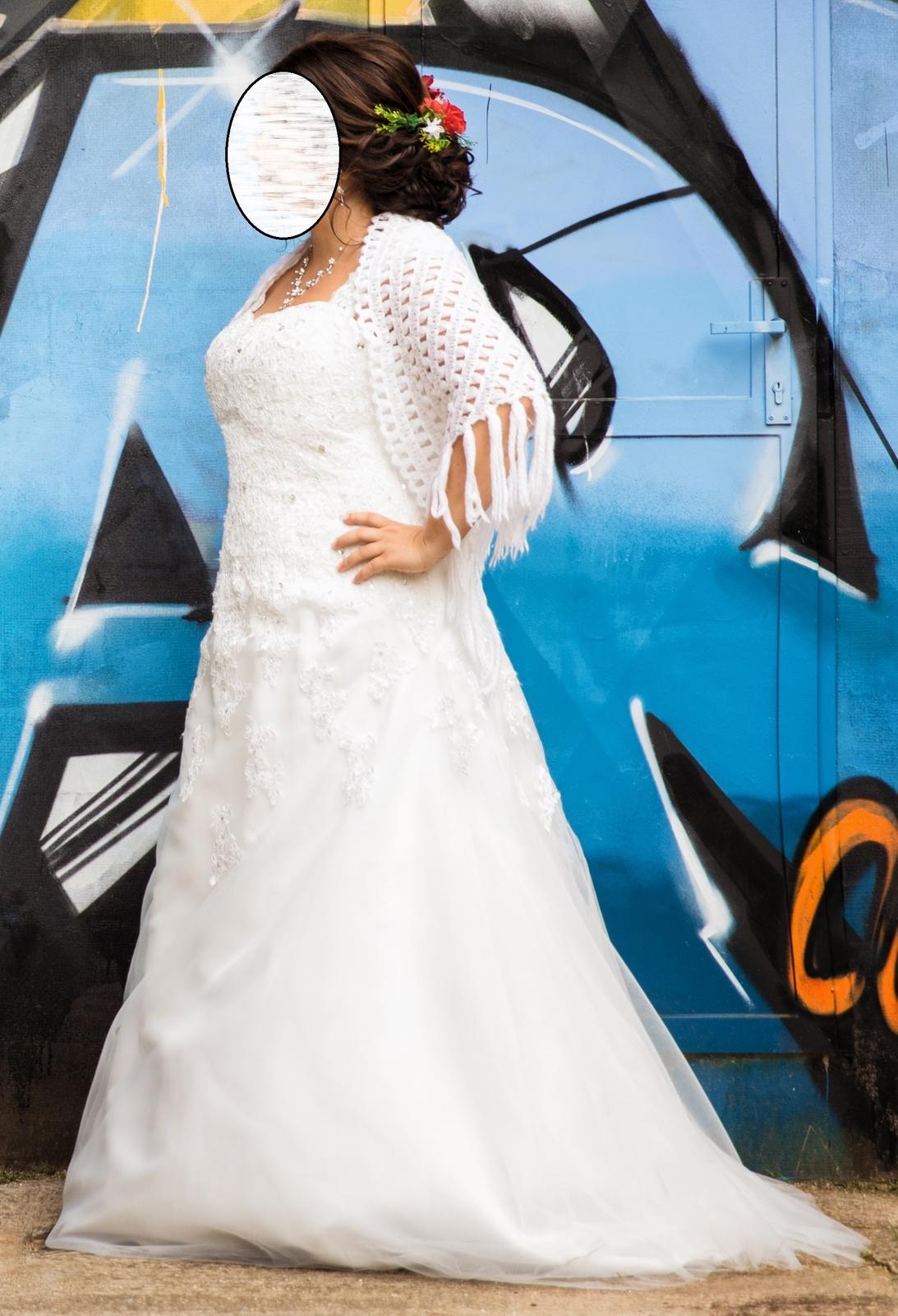 Svadobné šaty pre moletku vo farbe ivory - Obrázok č. 1