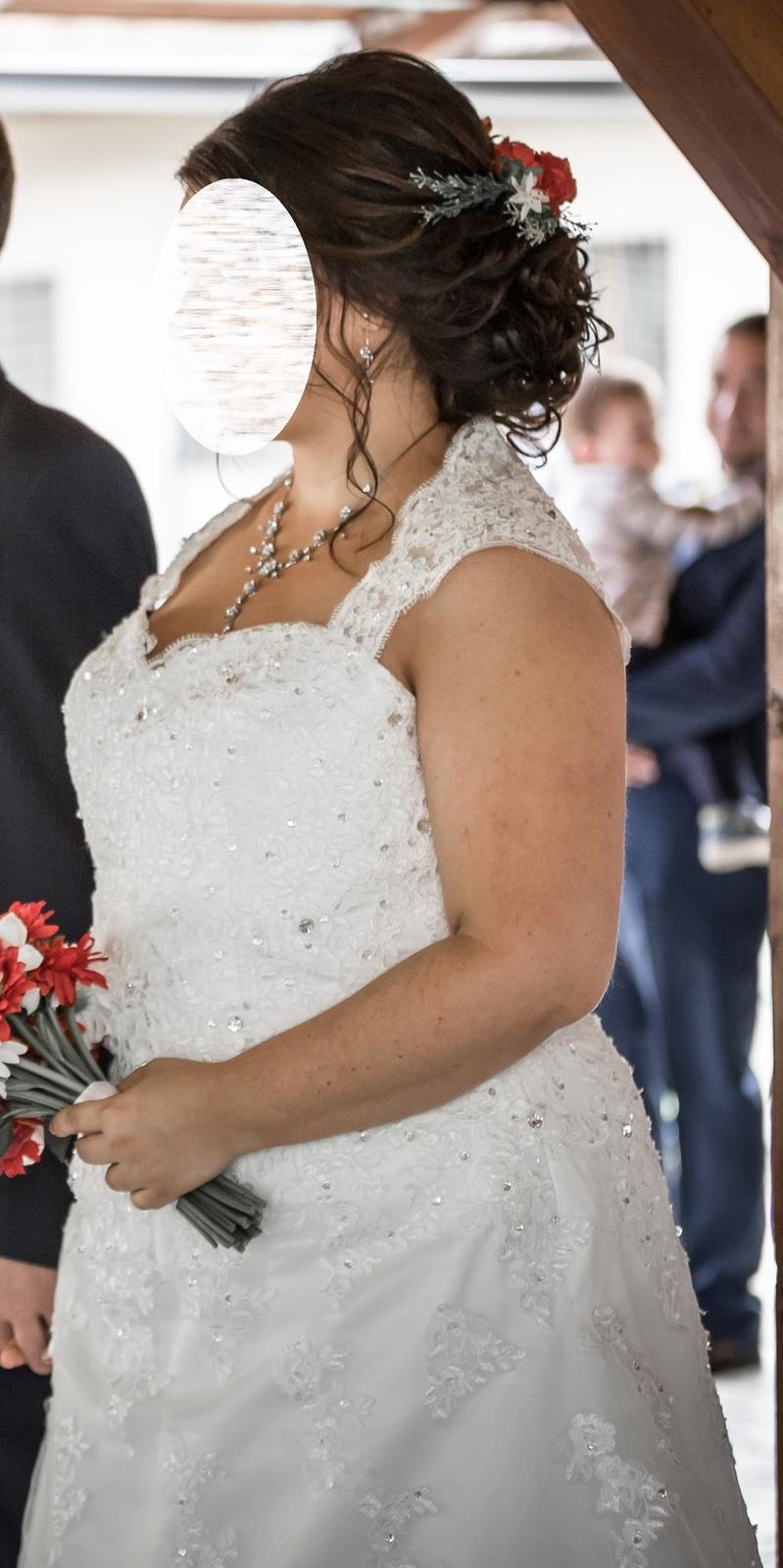 Svadobné šaty pre moletku vo farbe ivory - Obrázok č. 2