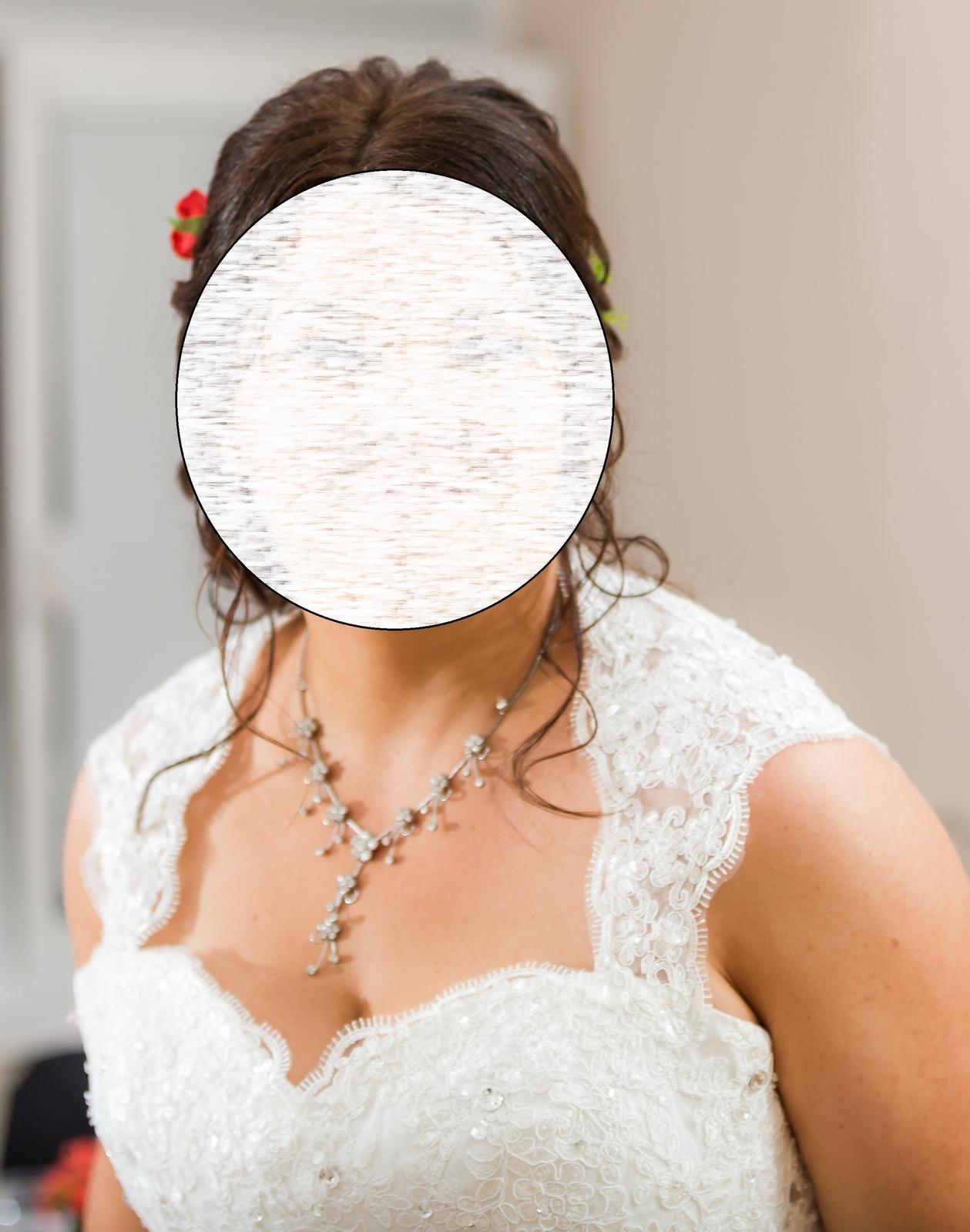 Svadobné šaty pre moletku vo farbe ivory - Obrázok č. 3