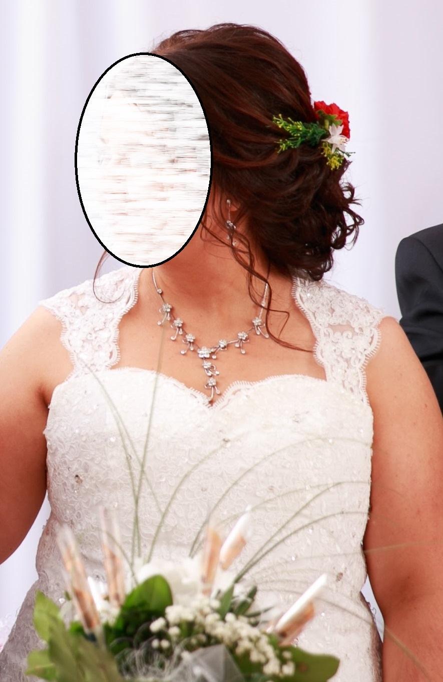 Svadobné šaty pre moletku vo farbe ivory - Obrázok č. 4