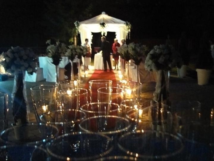 Večerní svatební obřad v Penzionu Setina (altánek k pronájmu) - Obrázek č. 1