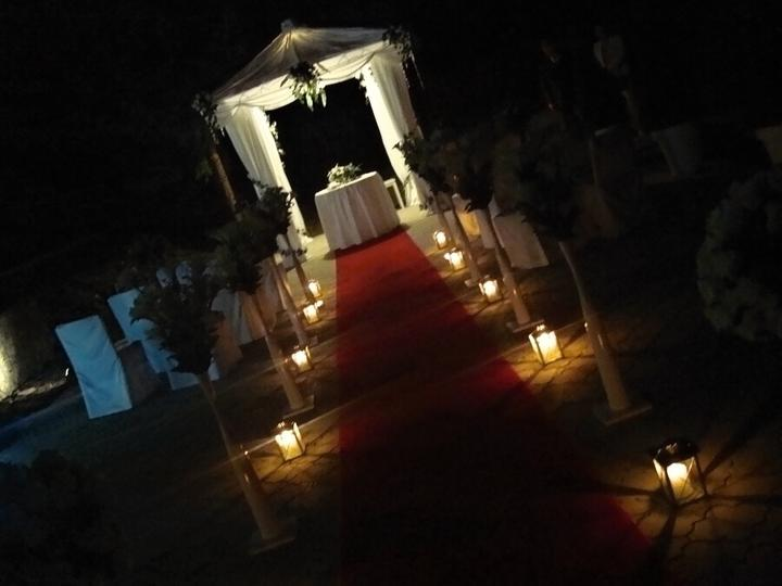 Večerní svatební obřad v Penzionu Setina (altánek k pronájmu) - Obrázek č. 3