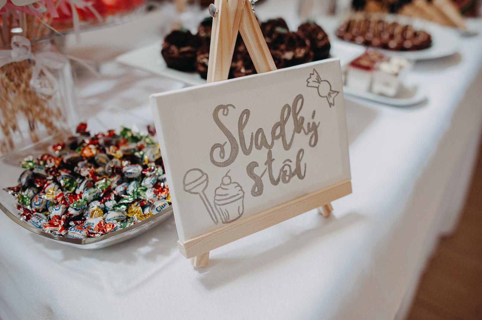 Nápis na Candy bar ,nápis ku knihe hostí - Obrázok č. 2