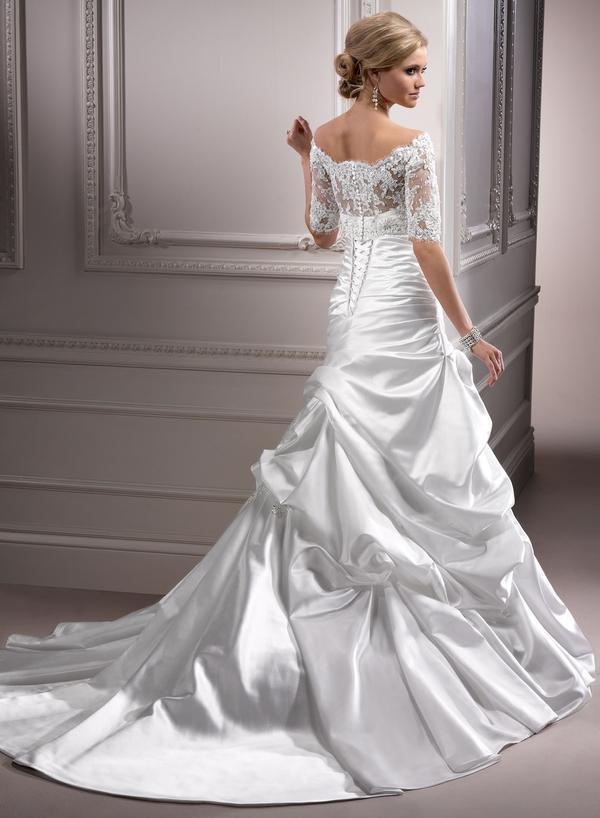 Výpredaj svadobných šiat! - Farba: white, veľkosť 36-38