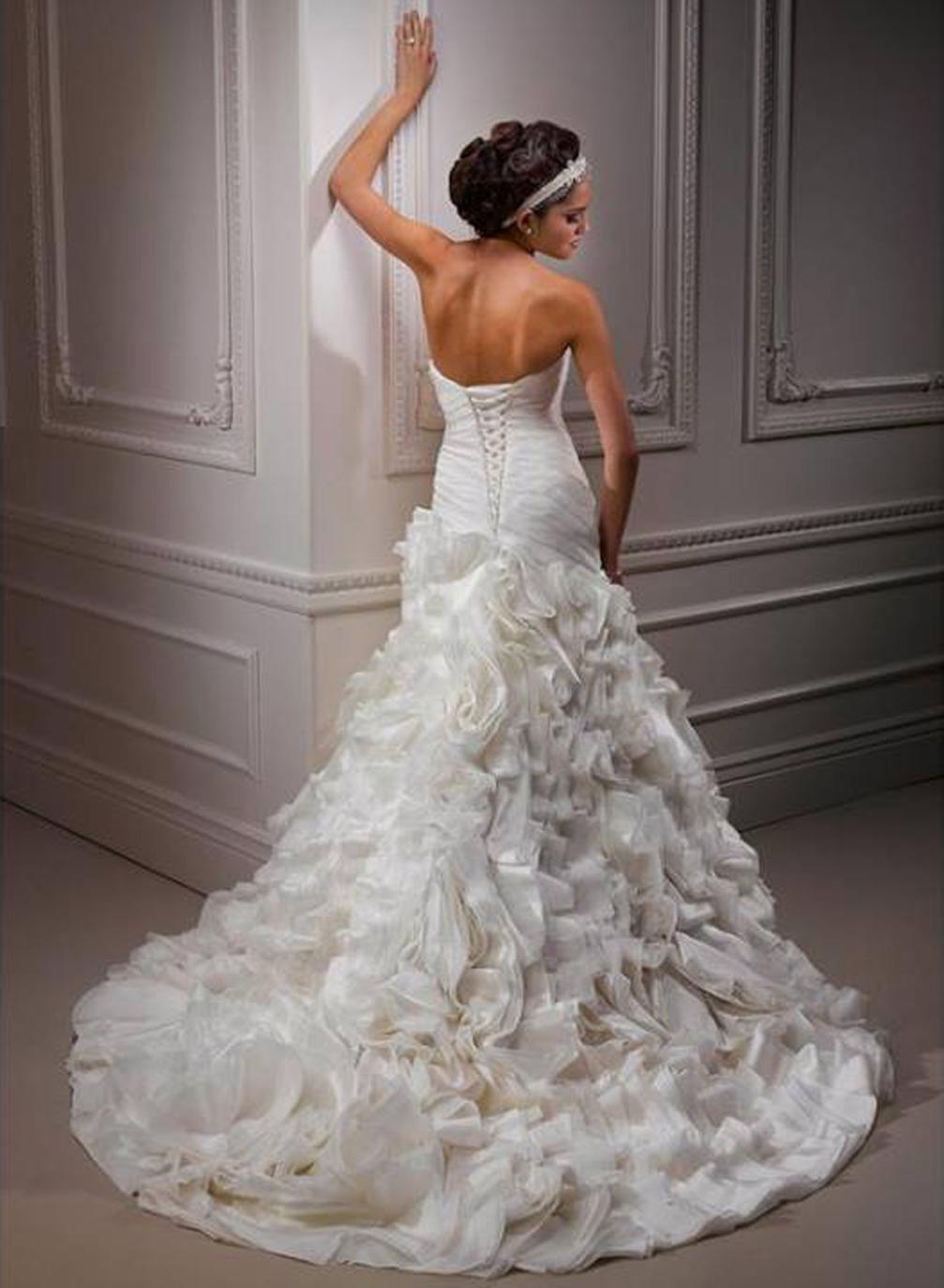 Výpredaj svadobných šiat! - Farba: diamond white, veľkosť 34-36-38