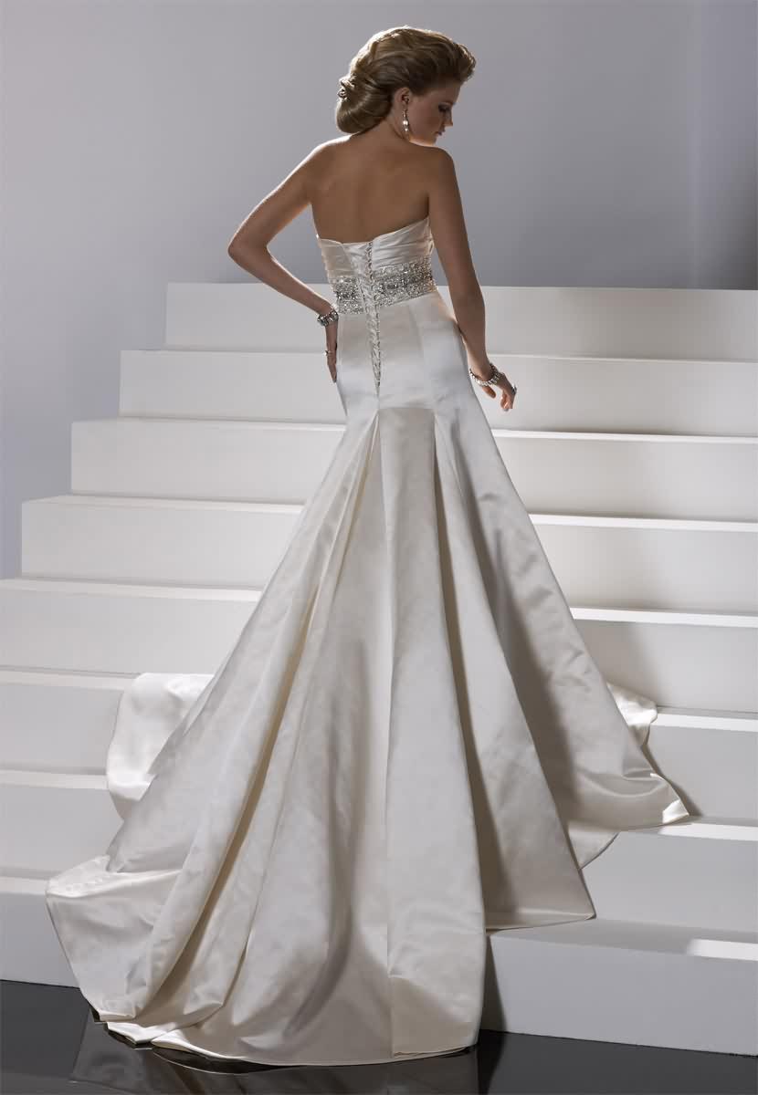 Výpredaj svadobných šiat! - Farba: alabaster, veľkosť 36-38