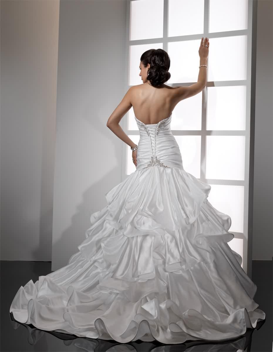 Výpredaj svadobných šiat! - Farba: diamond white, veľkosť 36-40