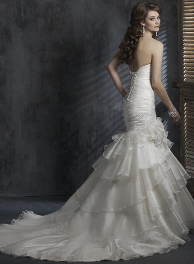Výpredaj svadobných šiat! - Farba: white, veľkosť 34-38
