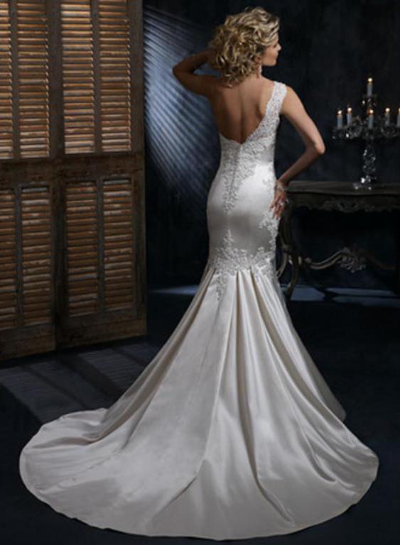 Výpredaj svadobných šiat! - Farba: alabaster/diamond white lace pewter accent