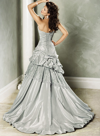 Výpredaj svadobných šiat! - Farba: white, veľkosť: 36-40
