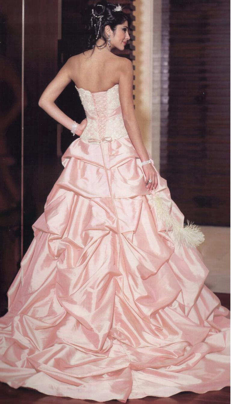 Výpredaj svadobných šiat! - Farba: cameo pink, veľkosť: 36-42