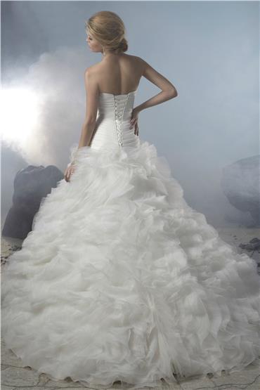 Výpredaj svadobných šiat! - Farba: white, veľkosť: 34-38