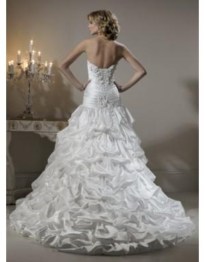 Výpredaj svadobných šiat! - Farba: diamond white, veľkosť: 32-38