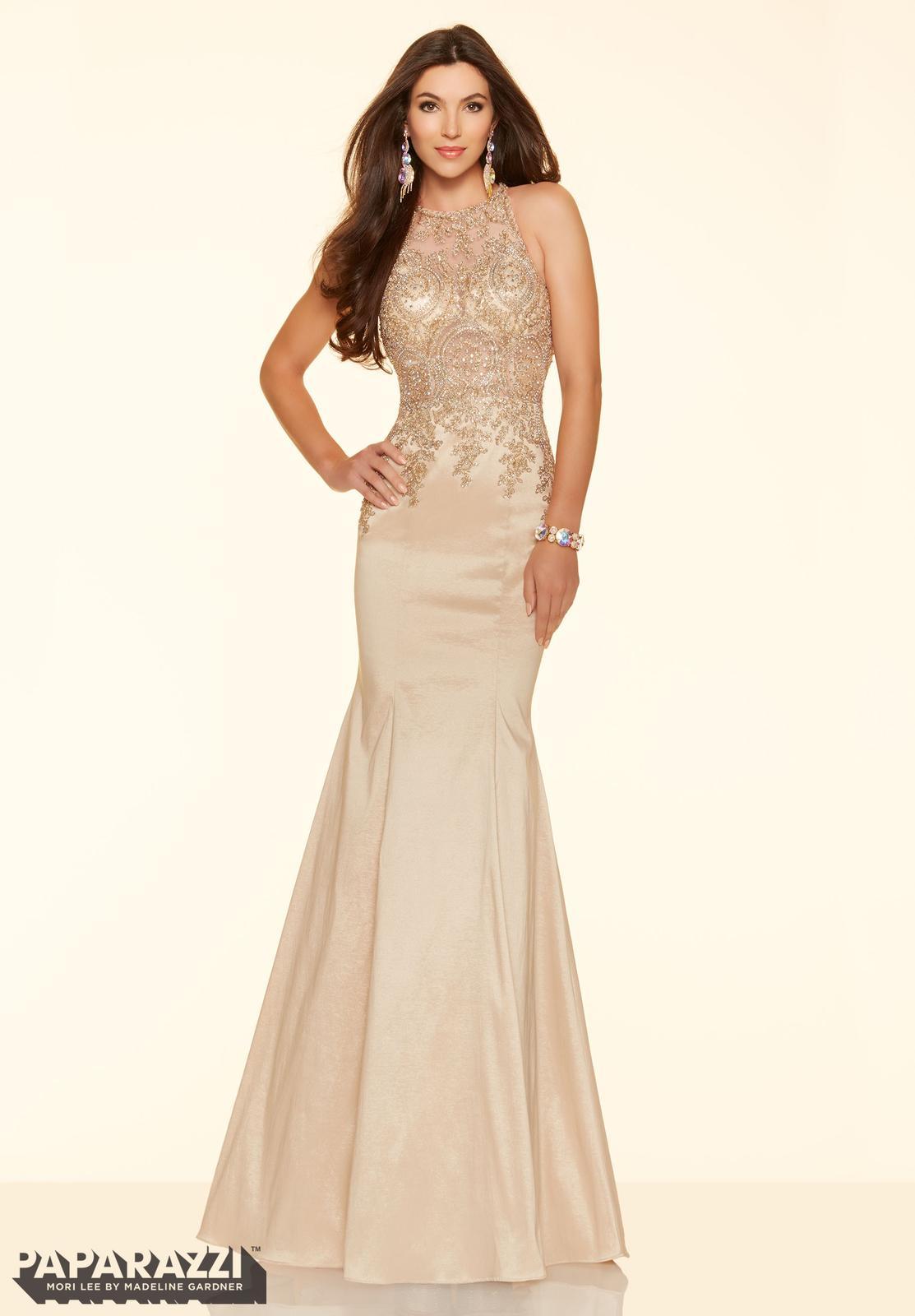 ♡ Elegantné spoločenské šaty OZZY ♡ v salóne DIAMOND v ŽILINE - Dokonalá a elegantná v zlatých šatách Ozzy