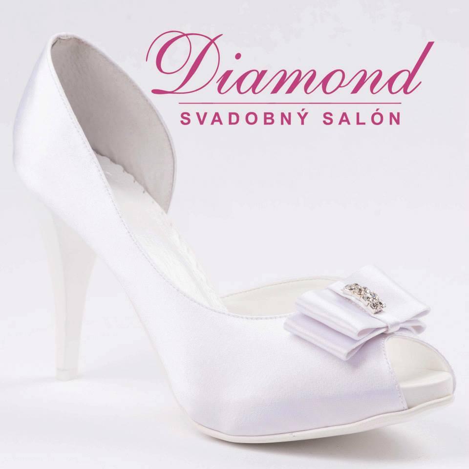 Saténové snehovobiele svadobné topánky - Obrázok č. 1