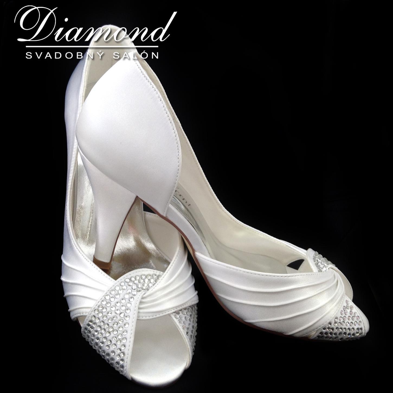 Snehobiele elegantné topánočky s kamienkami - Obrázok č. 1