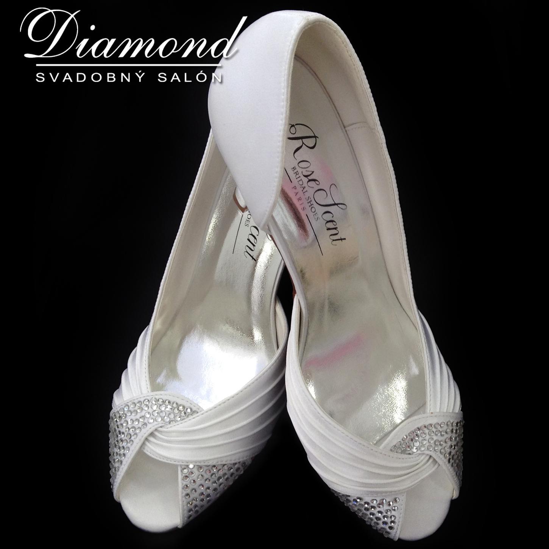 Snehobiele elegantné topánočky s kamienkami - Obrázok č. 2