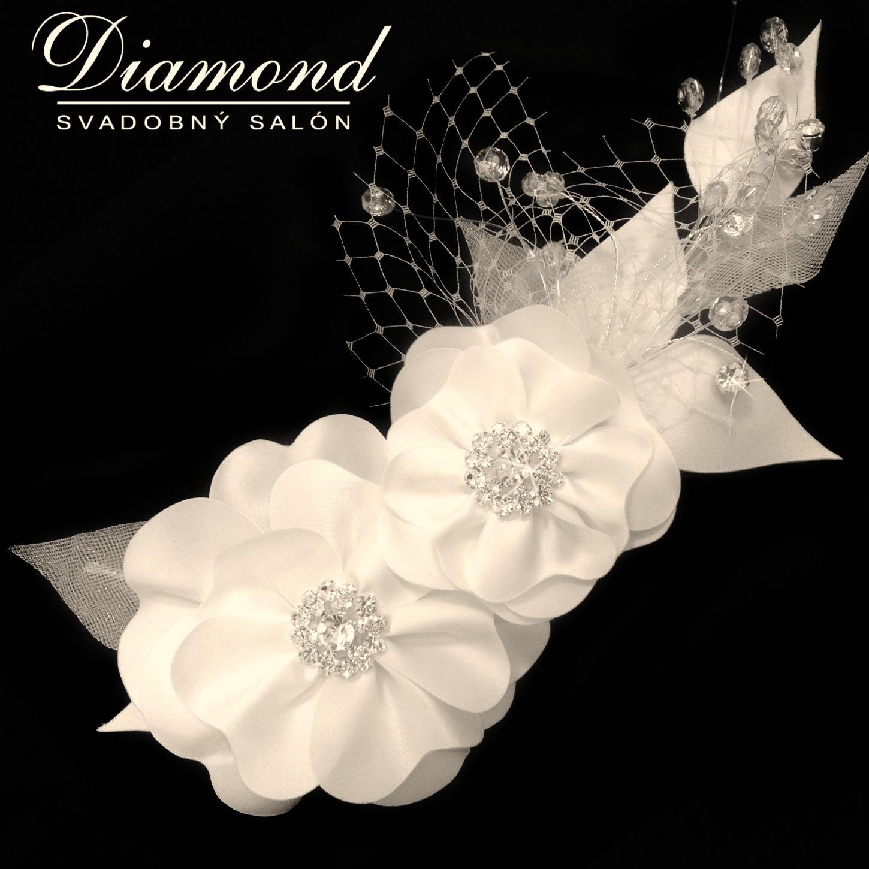 Diamond white kvety do vlasov-ozdoba - Obrázok č. 1