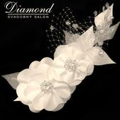 Diamond white kvety do vlasov-ozdoba,