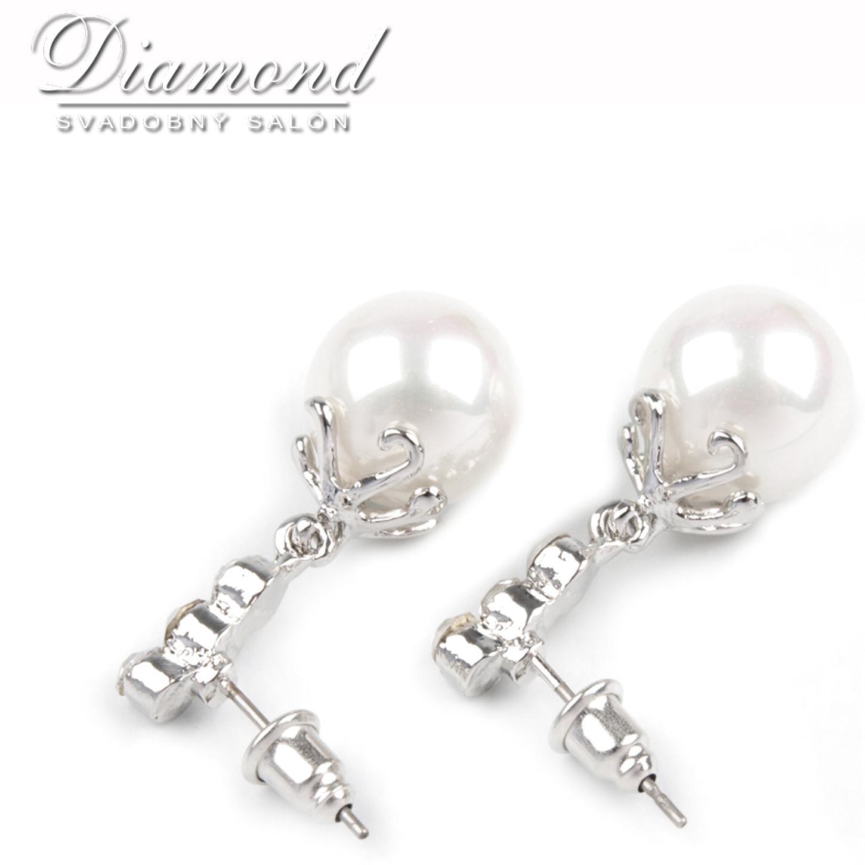 Elegantné perlové náušničky - Obrázok č. 2