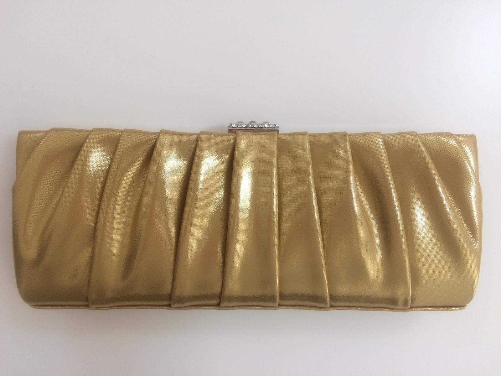 Zlatá listová kabelka FELICITY - Obrázok č. 2