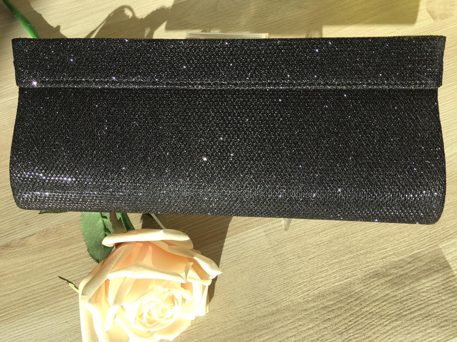 Čierna luxerová kabelka - Obrázok č. 1