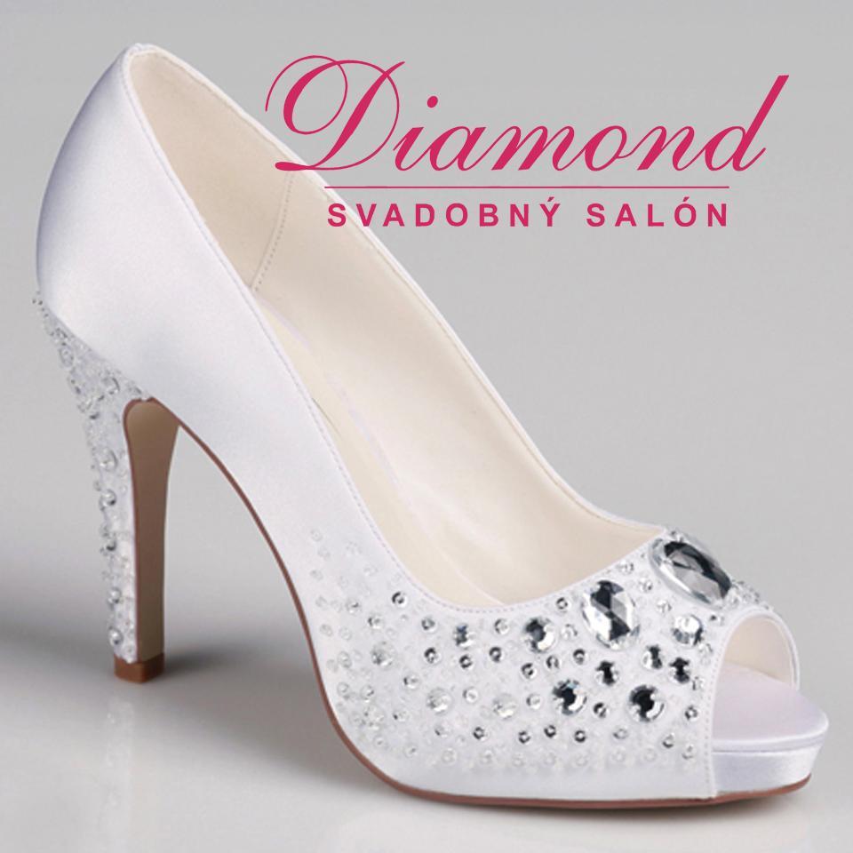 Krémové svadobné topánky s otvorenou špičkou - Obrázok č. 1