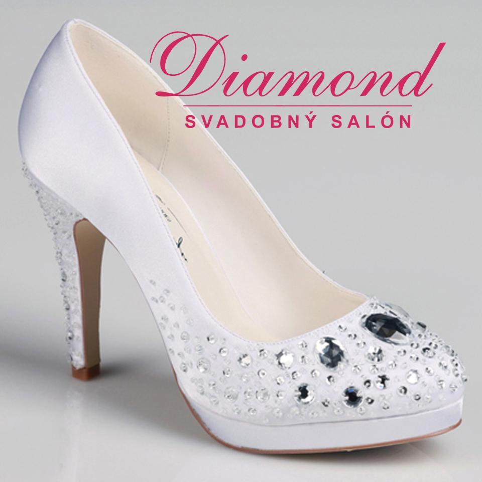 Krémové svadobné topánky so zatvorenou špičkou - Obrázok č. 1