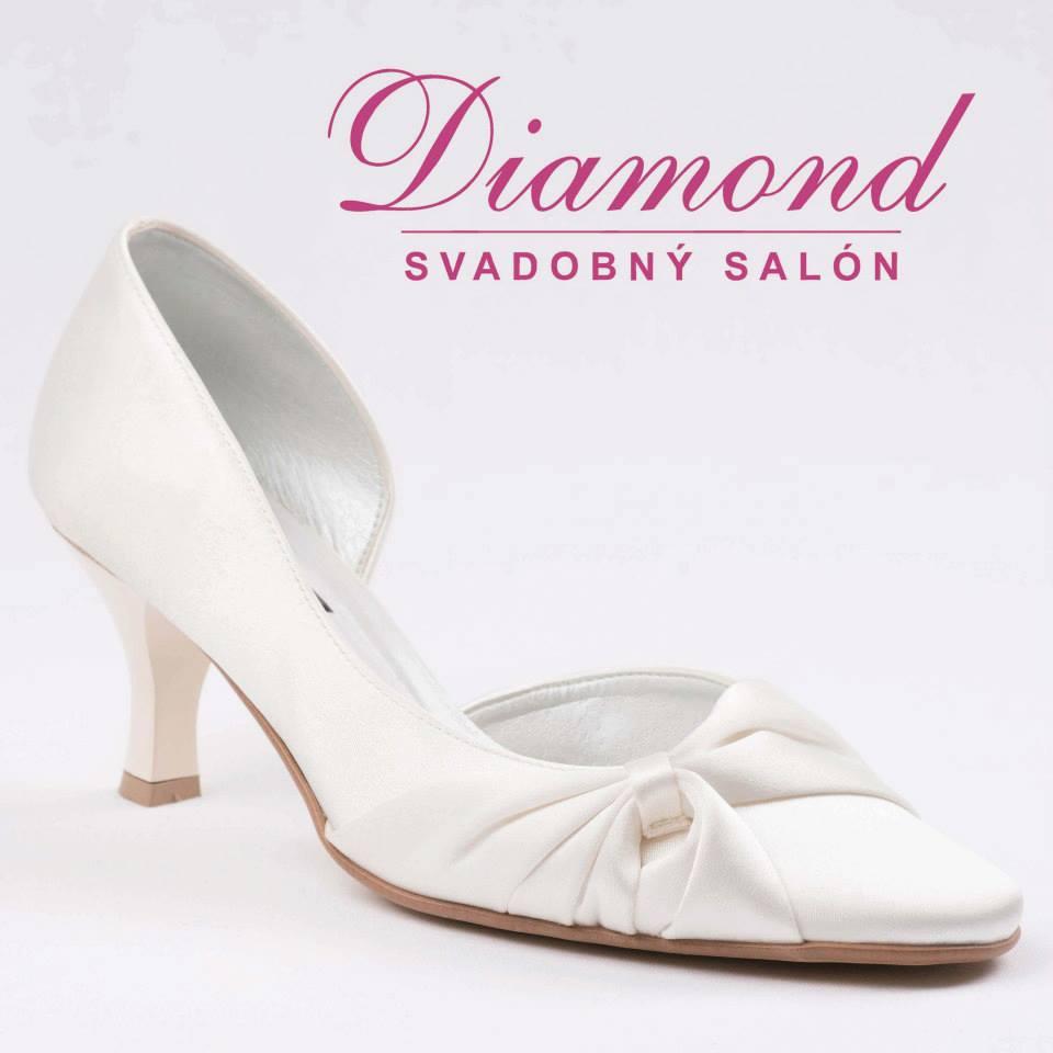 Krémové svadobné topánky  - Obrázok č. 1