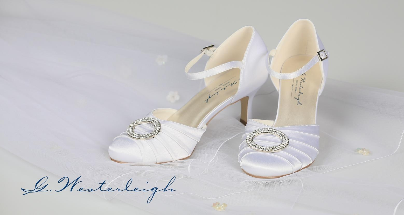 Biele svadobné topánky s remienkom - 35  - Obrázok č. 2