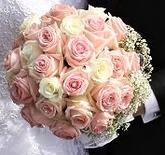 klasická svatba z růží