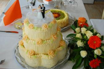 toto měl být vedlejší dort - ale nakonec byl hlavní