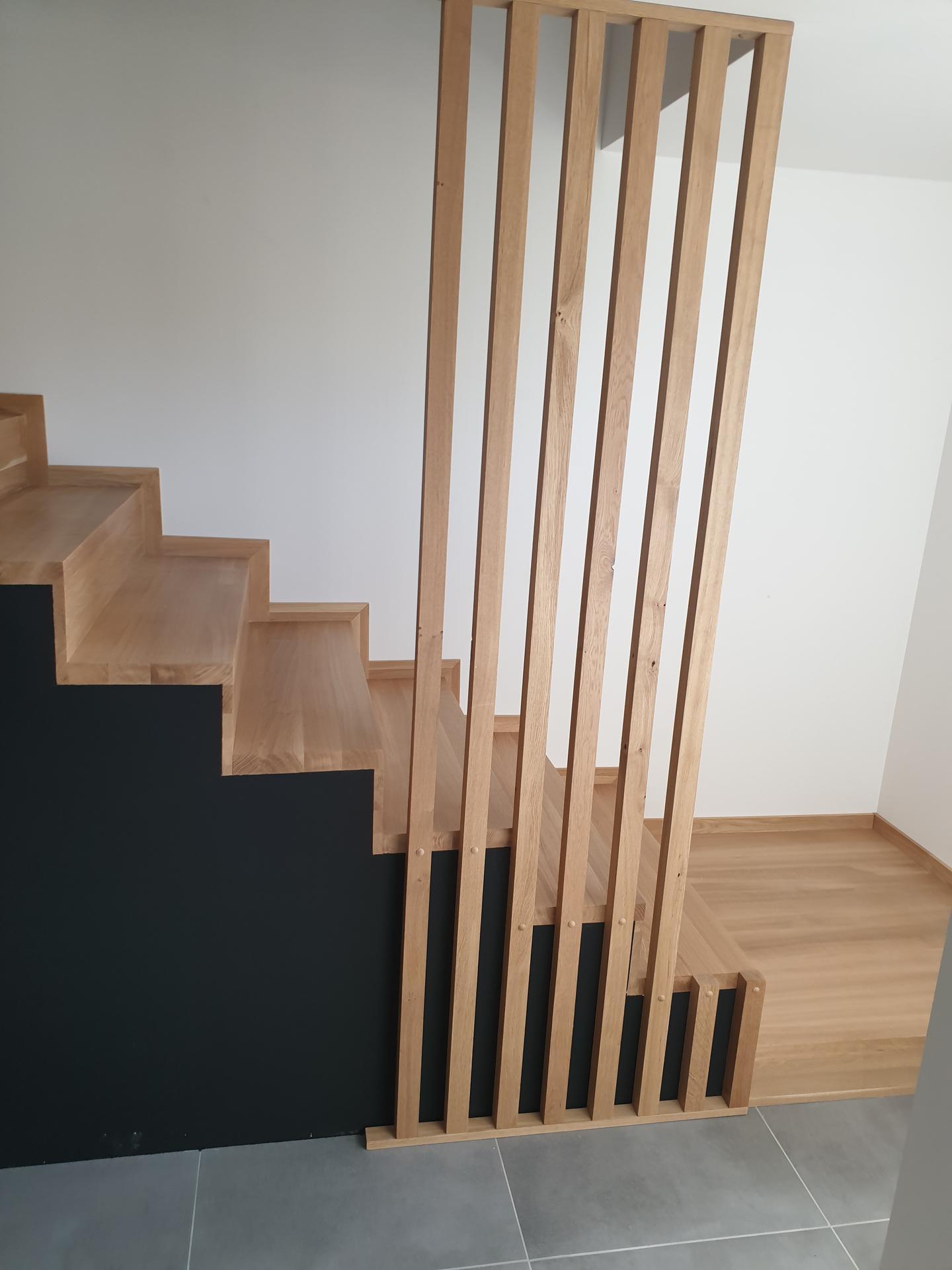 Moderné schodisko - DUB + lamely - Obrázok č. 4