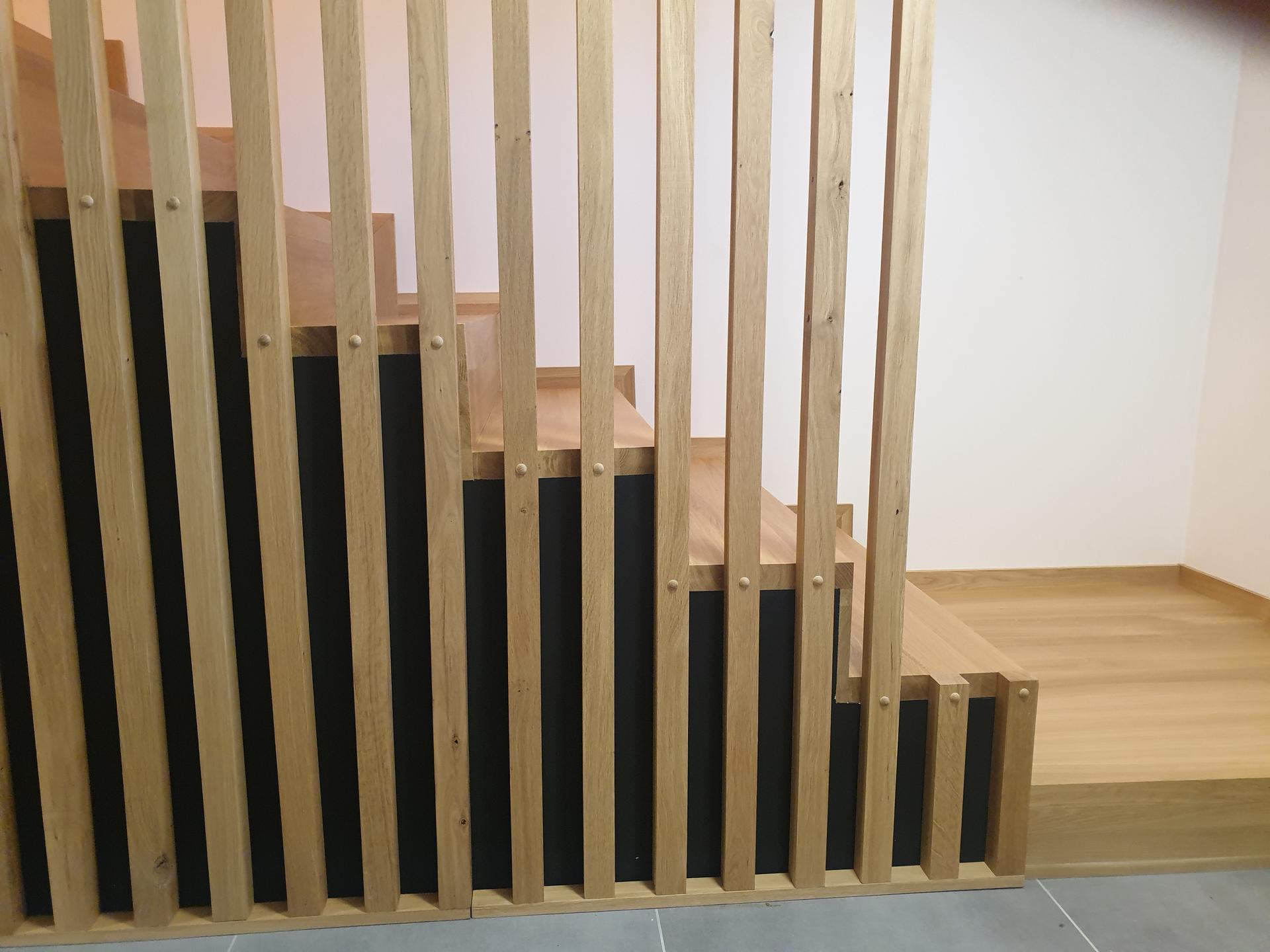 Moderné schodisko - DUB + lamely - Obrázok č. 13