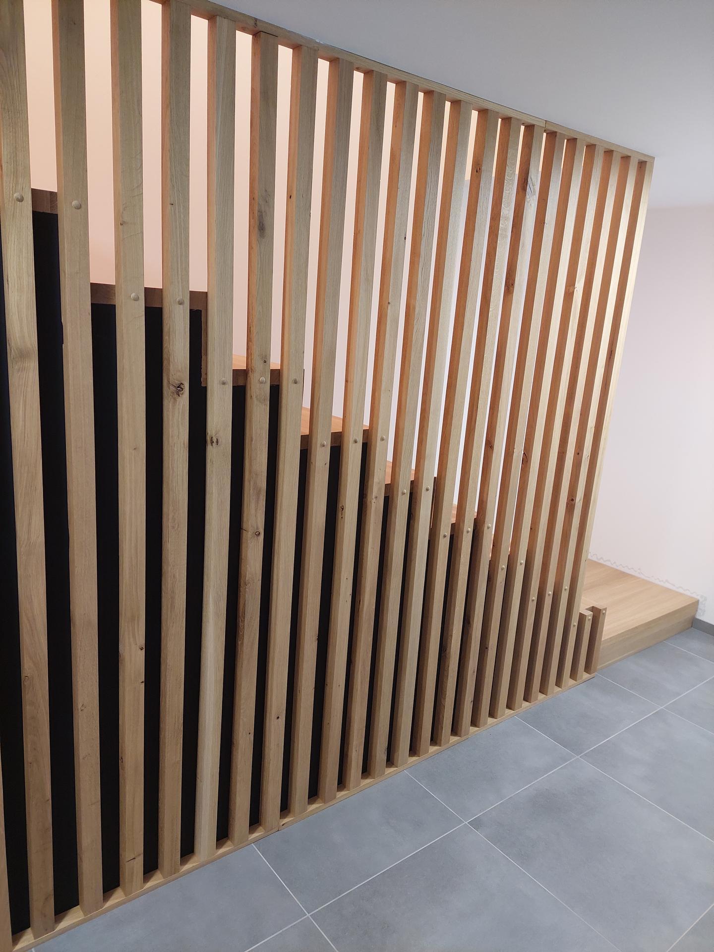 Moderné schodisko - DUB + lamely - Obrázok č. 25