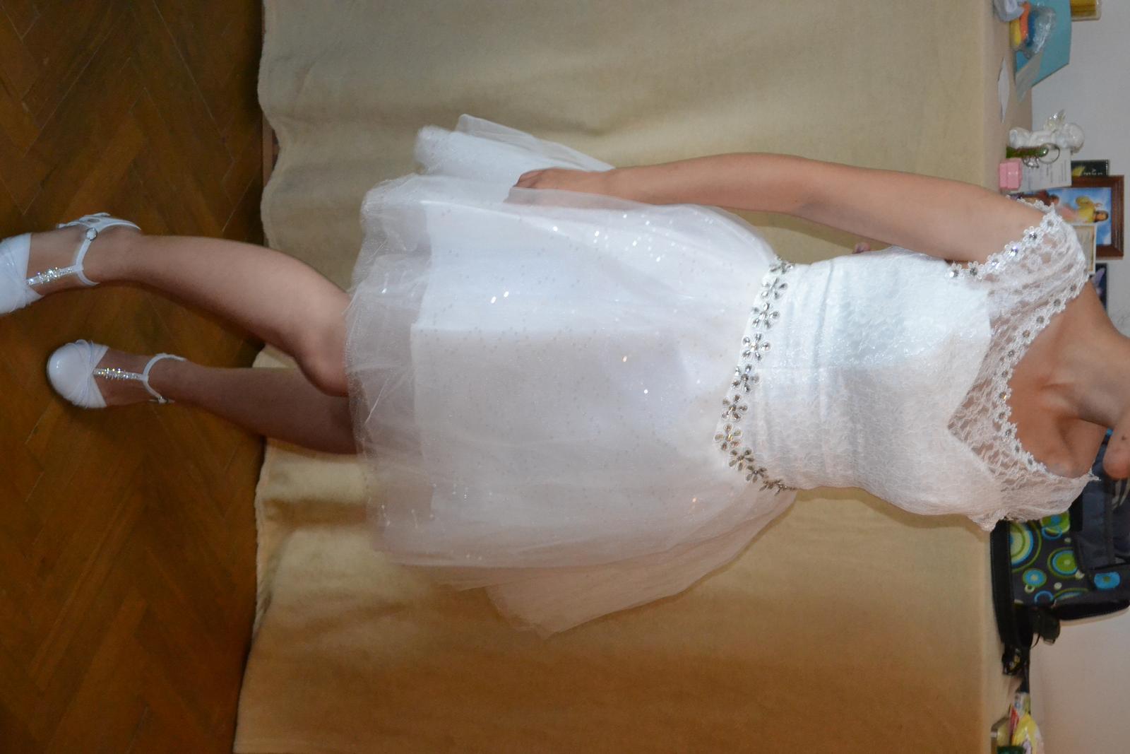 nepoužité čipkované  krátke šaty- cena s poštou - Obrázok č. 2