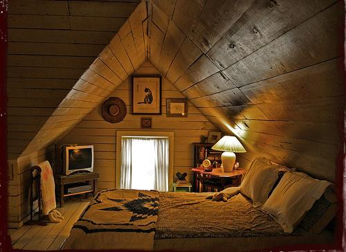 Na chatě u Pejru - takhle snad jednou bude vypadat podkrovíčko