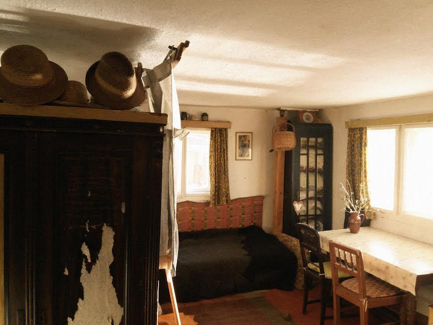Na chatě u Pejru - pohled z kuchyňky