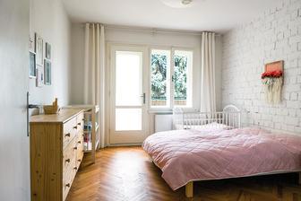 pěkně vyřešená ložnice